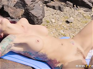 Desert yoga pound with chisel longing Monique Alexander