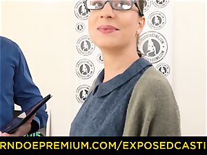 revealed audition - Nerdy amateur dark-haired sweetie nailed