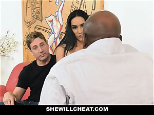 SheWillCheat - steamy wife With yam-sized Rack enjoys dark-hued manstick