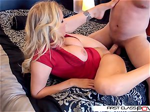 Julia's hubby witness her getting fucked by other boys