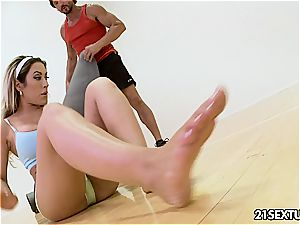 fancy Capri Cavanni gets a work out ravaging doggie