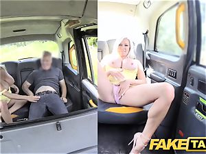faux taxi huge breasts light-haired Michelle Thorne
