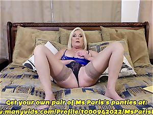 Ms Paris displays Her Sold ManyVids g-string preparation