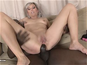 taunting cock-squeezing gash interracial rough black assfuck boink