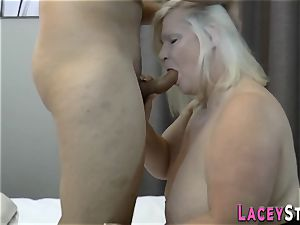 huge-titted brit granny pulverized