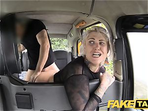 fake cab blonde cougar gets surprise ass fucking hook-up