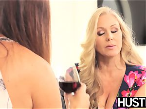 incredible Julia Ann cunt toyed roughly by huge-boobed dyke