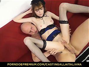 casting ALLA ITALIANA - bony honey takes boner like professional