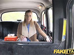 faux taxi Nurse in spectacular lingerie has car fucky-fucky