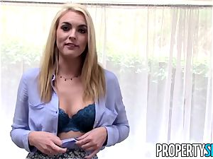 PropertySex blond realtor tricked into intercourse on camera