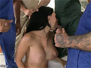 mischievous paramour Aletta Ocean takes one man rod at a time dipping torrid in her throat