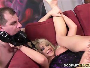 cheating tramp Leya Falcon takes ass-fuck fuckin'