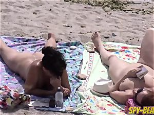 naked Beach milf unexperienced hidden cam Close Up pussy And bootie