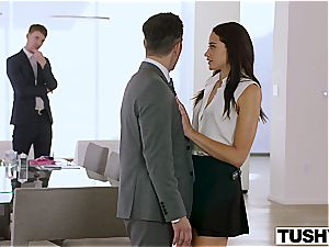 Avi love gets dual the enjoy in both her fuck holes