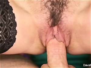 brunette sweetie Dava gets fucked point of view style