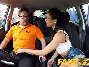 faux Driving school ebony american minx Kira Noir