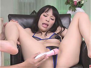 Kyouko Maki slit gets worked by sex playthings