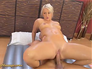enormous backside babe gets slimy banged