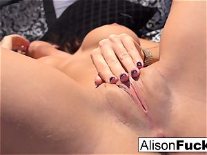 Alison posing nude in couch