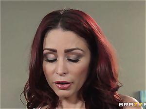 wifey Lezley Zen gets vengeance on handsome masseur Monique Alexander