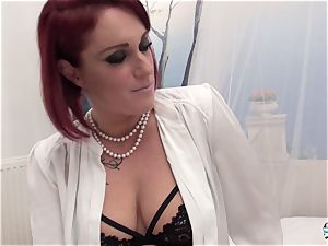 La Cochonne - amateur French sandy-haired in messy anal invasion poke