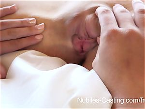 Nubiles casting - lil' tit stunner attempts out for porno
