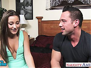 cutie Danie Daniels hops on his huge man meat and rides him rock-hard