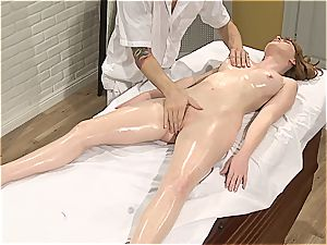 Pretty Marie McCray gets external and inner massage