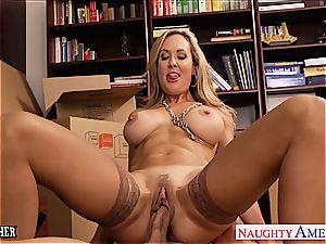cougar fuck-a-thon lecturer Brandi enjoy drilling a fat boner