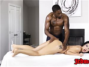 Katrina Jade drilled by bbc after rubdown