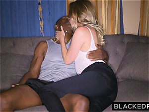 BLACKEDRAW girlfriend Surprises Her beau By penetrating The thickest bbc In the WORLD