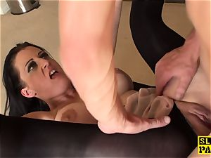 british gimp dominated with beef whistle