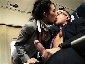 Asa Akira and her hostess pals ravage on flight