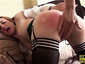Ginger british victim bitch dominated in stocking