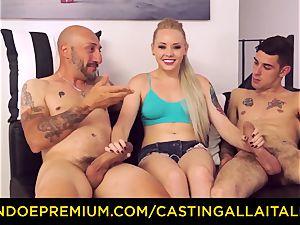 CASTNG ALLA ITALIANA - blondie vixen tough double penetration orgy