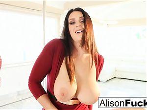 Alison Tyler celebrates Valentine's Day by masturbating