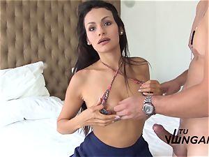 TuVenganza - hot dark-haired Latina loves the taste of jizz