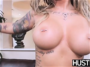 inked and huge-chested Payton Sinclaire fed jizm after pulverizing