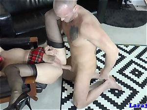 Balgagged mature brit bootie romped by personal