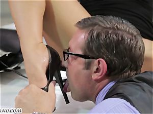 whorey asian secretary gets banged in the office